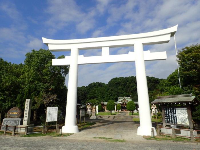 長崎護国神社 鳥居補強工事