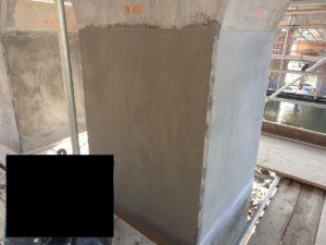 ポリマーセメントモルタル コテ塗り 完了
