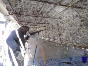 断面修復工 コンクリートはつり状況